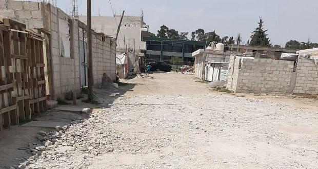 Comuna, sin pavimentar calles en la Gregorio de Gante: Antorcha