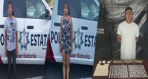 SSP detiene a 4 presuntos narcomenudistas en Puebla y Tehuacán