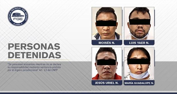FGE rescata a joven secuestrado y detiene a 4 en Tehuacán