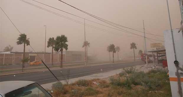 Como en las películas, gran tormenta de polvo cae sobre Torreón
