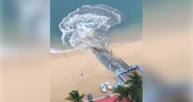 Conagua investiga vertimiento masivo de aguas residuales en Acapulco