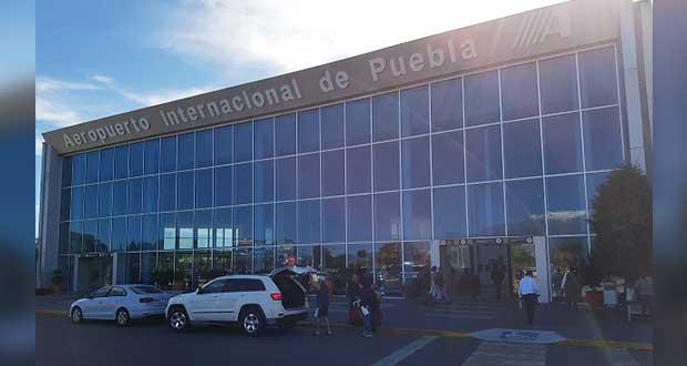 Flujo de pasajeros de aeropuerto de Puebla cae 74% en contingencia por Covid
