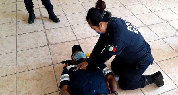 Edil antorchista de Atexcal organiza curso de primeros auxilios