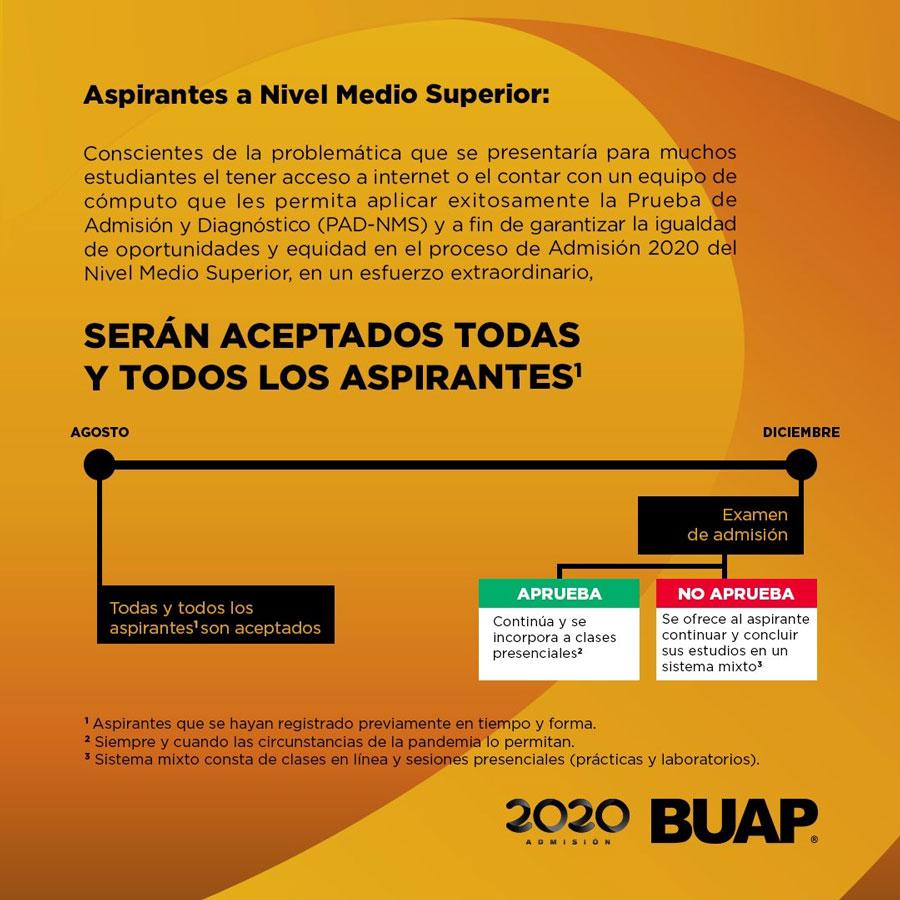 BUAP aceptará a todos los aspirantes a preparatoria sin importar examen