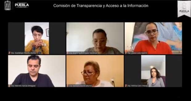 Aprueban acuerdo para reformar Ley de Transparencia en Puebla