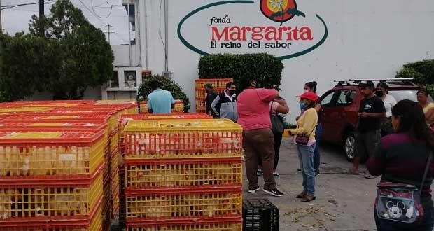 Diputado antorchista da gallinas ponedoras a vecinos de 2 municipios