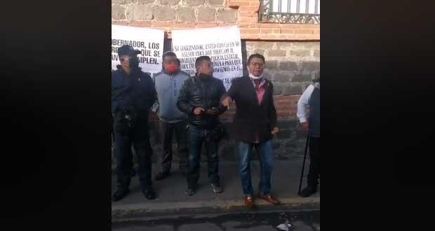 Gobierno sin cumplir acuerdos, acusan policías estatales; se revisará: Barbosa