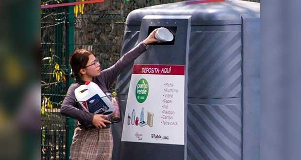 ¡Recicla! Puebla capital cuenta con 82 puntos recolectores en 63 colonias