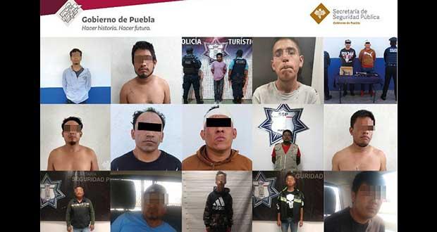 En Puebla, bajan 31% robos y 74% secuestros durante 1S, señala SSP