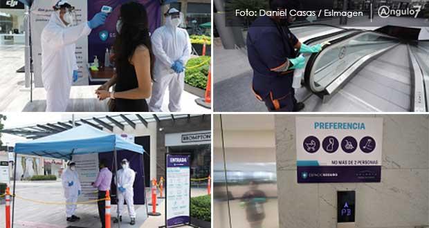 Por negocios esenciales, 54 centros comerciales reabren en Puebla: Acecop