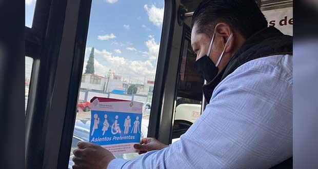 Transporte público ofrece asientos preferentes para grupos vulnerables