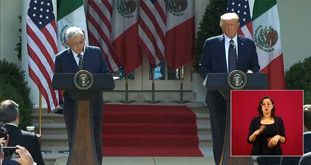 """Trump elogia a mexicoamericanos; AMLO agradece """"mayor respeto"""" a México"""