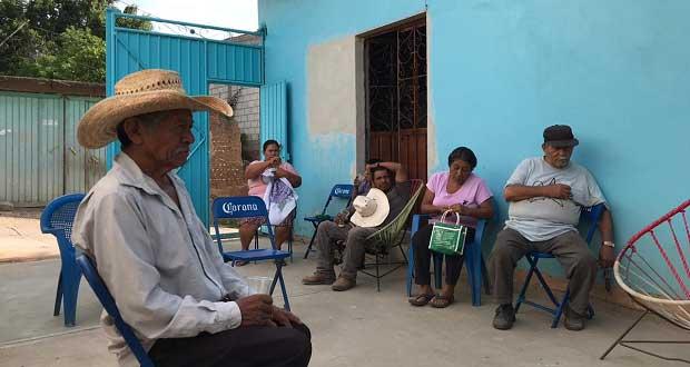 Vecinos de Ixcamilpa expresan apoyo a líderes de Antorcha