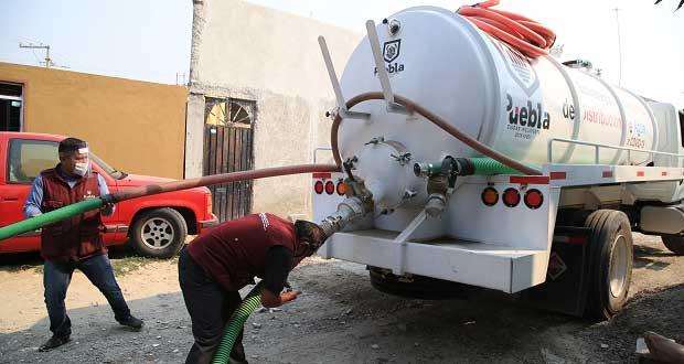 Por cuarentena, Comuna reparte agua en 54 colonias de la periferia