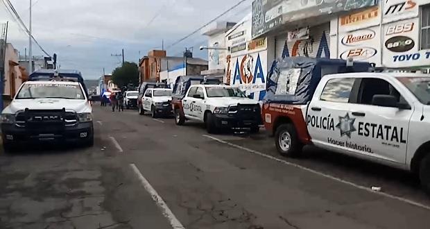 SSP y GN realizan operativo en la 46 Poniente; catean locales y hallan droga