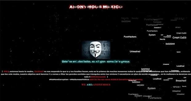 Ahora, Anonymous hackea portal de Condusef