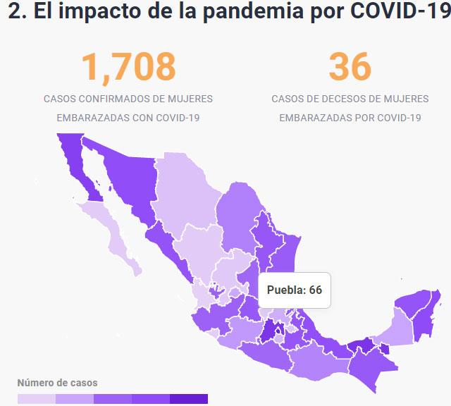 Puebla es 5º en mujeres con Covid y 10º en embarazadas contagiadas: GIRE