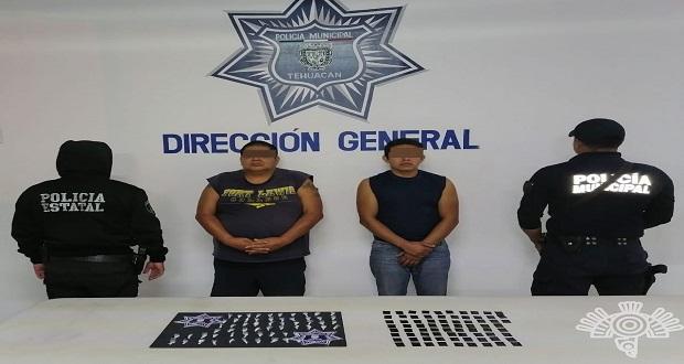 """Detienen a 2 de la banda de """"Las Bigotonas"""" en Tehuacán"""