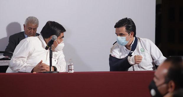 Puebla seguirá en semáforo rojo de Covid, contagios han desacelerado: Gatell