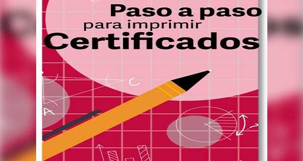 Si tienes hijos en educación básica, así puedes imprimir su certificado
