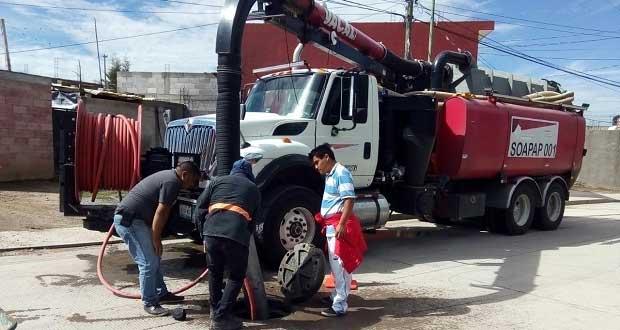 Antorchistas gestionan mantenimiento a drenaje en Xonacatepec