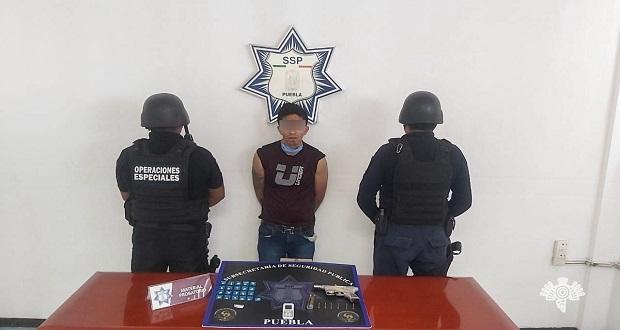 Detiene SSP a presunto narcomenudista y asaltante en San Isidro