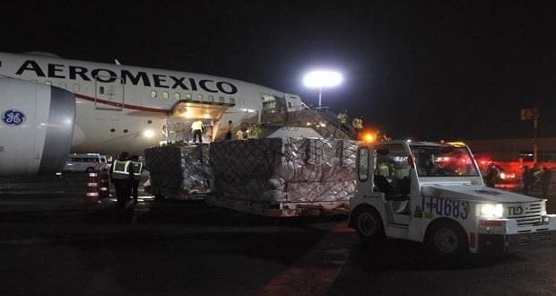 Sigue llegando ayuda de puente México-China para atender el Covid-19