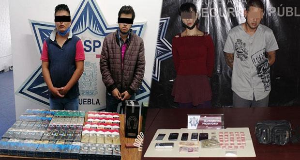 Cae asaltante que atracó 50 tiendas y presunta narcomenudista