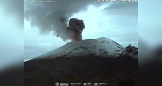 Cenapred prevé ceniza y explosiones leves del Popocatépetl