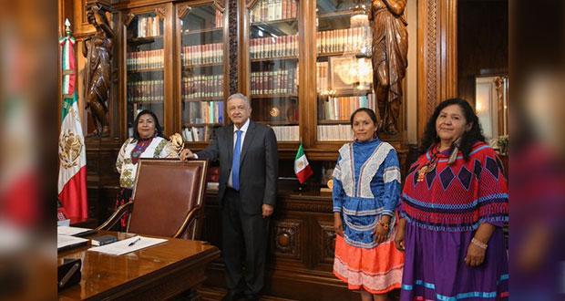 Tres mujeres indígenas, postuladas por AMLO para Conapred