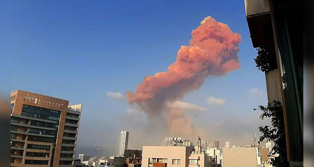 Estalla almacén de explosivos en puerto de Beirut; reportan heridos