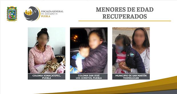 Regresan a 3 niños con sus madres tras ser arrebatados por su pareja