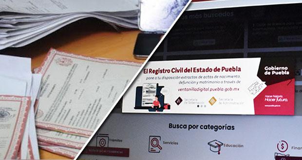Puebla resguardará digitalmente actas del registro civil de 1930 a 2018