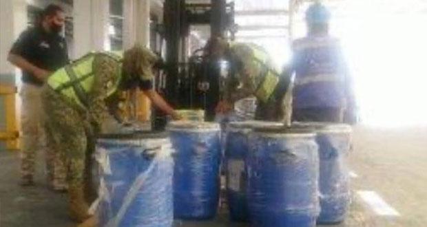 Decomisan 220 kilogramos de fentanilo procedentes de España en AICM