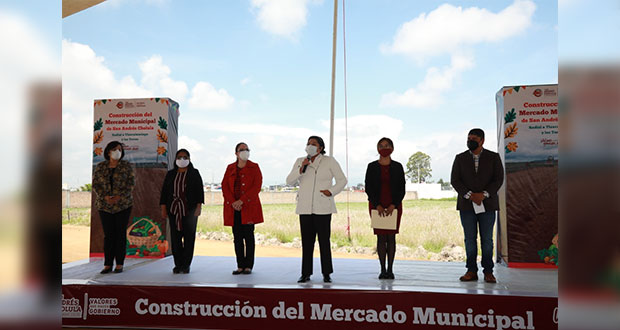 Colocan 1a piedra del mercado de San Andrés; invertirán 37 mdp