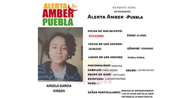 FGE activa Alerta Amber para localizar a Ángela, menor de edad