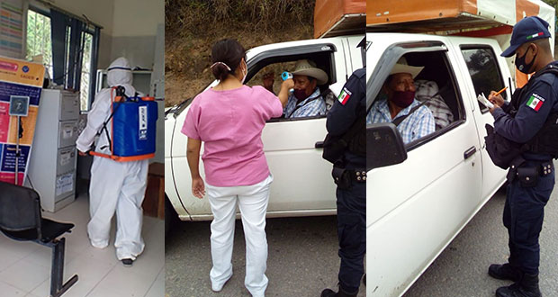 Comuna antorchista de Huitzilan refuerza medidas contra Covid