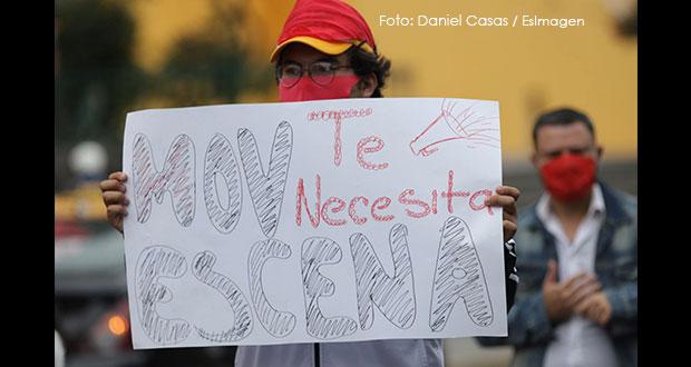 Artistas se manifiestan cerca de Casa Aguayo; gobierno dará apoyos