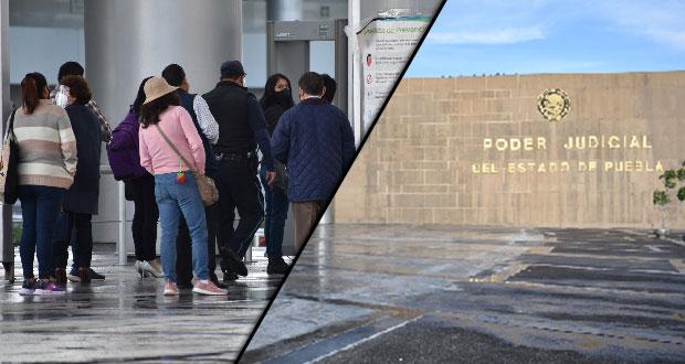 Juzgados en Puebla, con largas filas para tramitar amparos frenados 4 meses