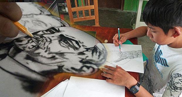 En Atlixco, dan curso de dibujo rumbo a concurso nacional de Antorcha