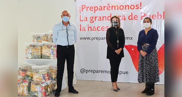 SRE dona 5 mil despensas para Puebla ante contingencia