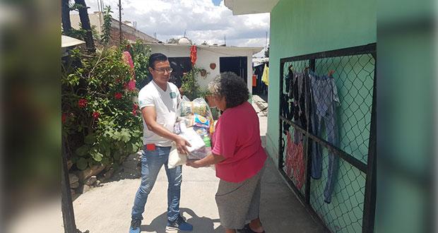 Congreso de Puebla entrega 155 despensas a afectados por Covid-19