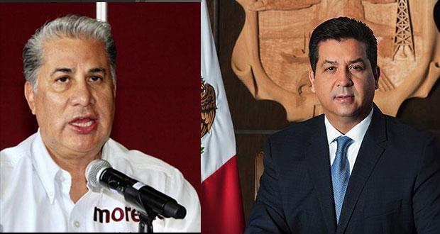 Aspirante a CEN de Morena denuncia en FGR a gobernador de Tamaulipas