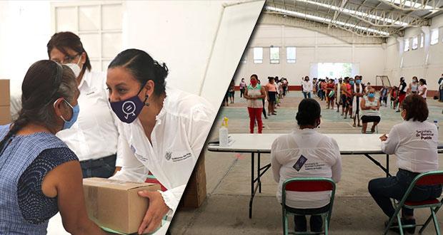 ONU entrega apoyos mujeres vulnerables de Puebla por pandemia