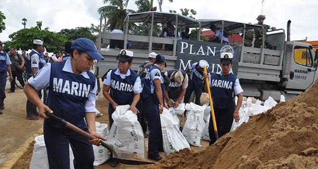 Aplican Plan Marina en costa del Pacífico ante tormentas tropicales