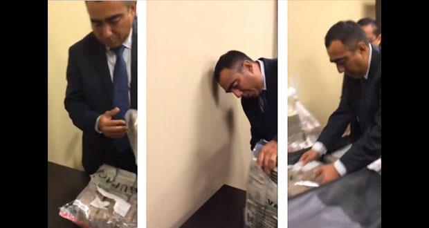 """En video, exhiben a 2 panistas recibiendo dinero de """"funcionario"""" de Pemex"""