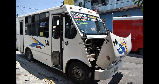 Pese a pandemia, sólo circula 50% de transporte público en Puebla