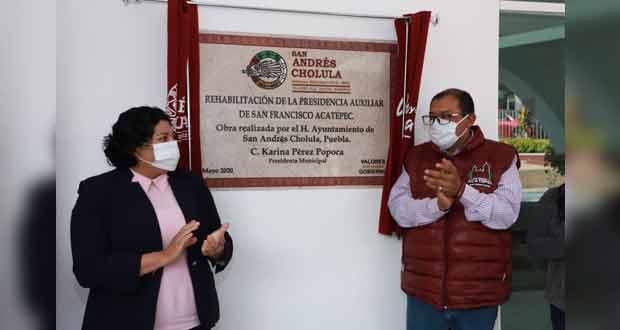 Entregan remodelación de presidencia auxiliar de Acatepec