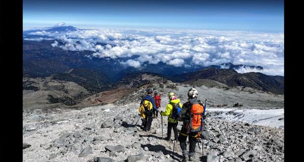 Accidente de alpinismo en Citlaltépetl deja un muerto y otro lesionado