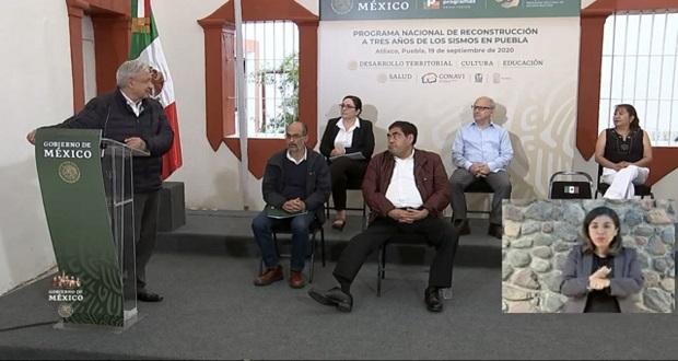 En 2021; SEP federal estará instalada en Puebla, anuncia AMLO